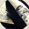 "Luxury Blue Three Vase Printing Pillow 18""X18"" - Thumbnail 3"