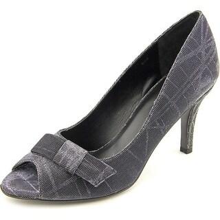 Vaneli Pimba Women W Peep-Toe Leather Heels