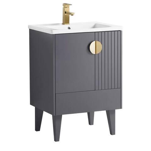 Venezian Single Bathroom Vanity With Sink,