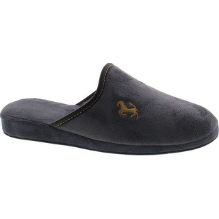 Sc Home Collection Men's 18517 Plush Comfort Slippers Made In Europe Great Gift Item