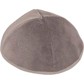 4 Part Grey Yarmulke  With Rim