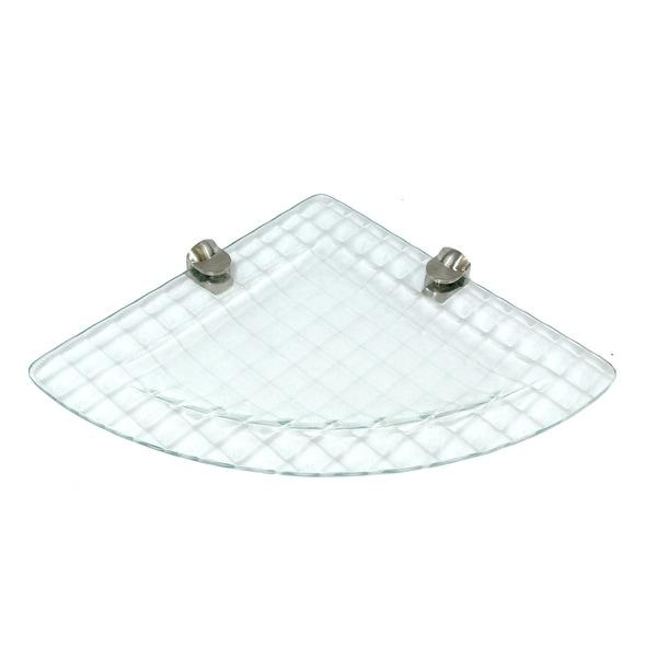 "Miseno MT-WHSSEC0909-PA 9"" Bathroom Shelf with Cube Glass Design - Clear"