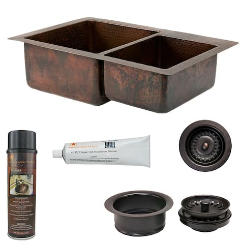 Premier Copper Products KSP3_K60DB33229 Kitchen Sink and Drain Package