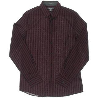 Kenneth Cole Reaction Mens Button-Down Shirt Super Slim Fit Cotton