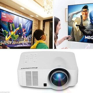 1500 Lumens Android WIFI Wireless LED 3D HD Home Theater Projector AV HDMI RJ45