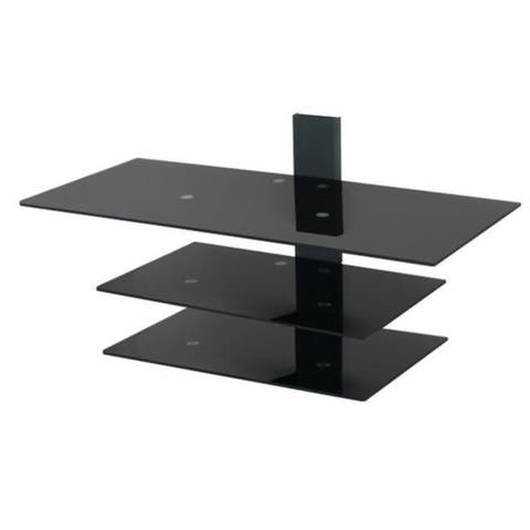 """AVF PS933PB-A Wall Mounted Glass Shelving System for TV Screens up to 50"""""""