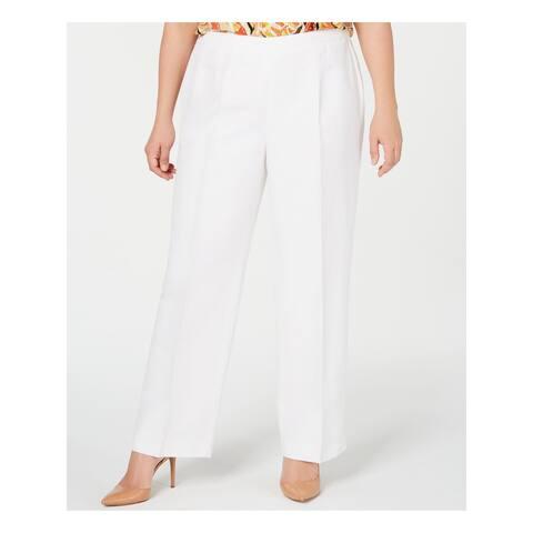 KASPER Womens White Wear To Work Pants Size 20W