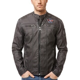Buffalo By David Bitton Jarley Faux Leather Jacket Canon Grey X-Large