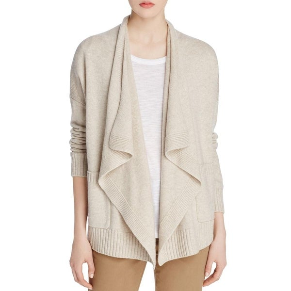 Vince Womens Cardigan Sweater Long Sleeve Drape Front