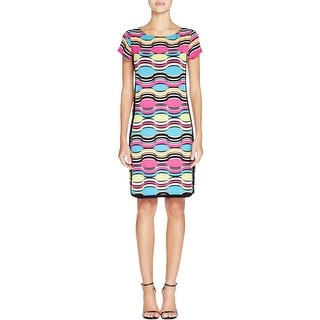 Laundry by Shelli Segal Womens Casual Dress Crepe Pattern