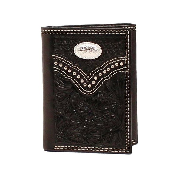 Nocona Western Wallet Mens Trifold Embossed Leather ID Window - One size
