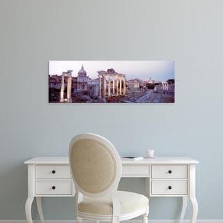Easy Art Prints Panoramic Images's 'Roman Forum, Rome, Italy' Premium Canvas Art