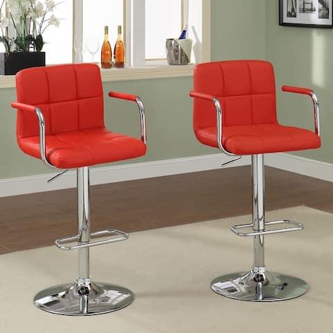 Furniture of America Corvelli Adjustable Swivel Barstool (Set of 2)