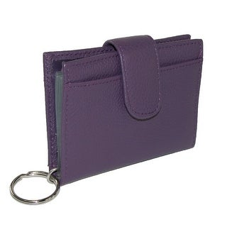 Buxton Women's Leather Key Chain ID Card Case Wallet - One size