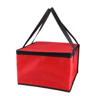 "Non-Woven Fabric 15.4"" Length Zipper Closure Lunch Box Cooler Tote Bag"