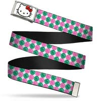 Hello Kitty Face Fcg White Chrome Frame Hello Kitty Bubbles White Web Belt