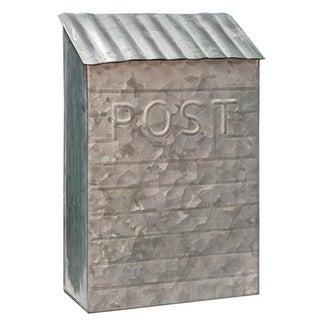 Washed Galvanized Vintage Post Box