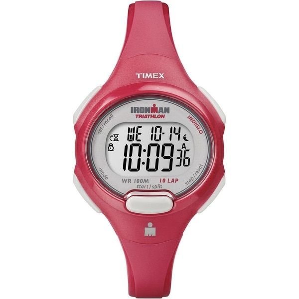 Timex Women's T5K783 Ironman Red Case & Strap Watch