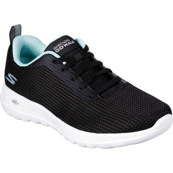 a93bf5c001a77 Shop Skechers Women's GOwalk Joy Upturn Sneaker Black/Aqua - On Sale ...