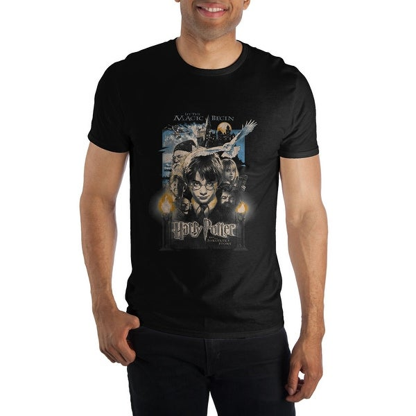 1c89555a3ab Shop Harry Potter The Sorcerers Stone Poster Mens T Shirt - Free Shipping On  Orders Over $45 - Overstock - 22048056