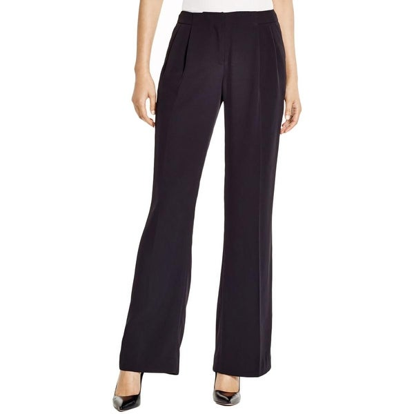 Calvin Klein Womens Dress Pants Crepe Pleated