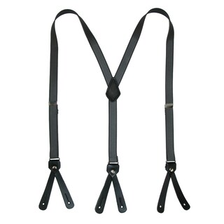 CTM® Women's Elastic 3/4 Inches Satin Solid Color Button-End Suspenders
