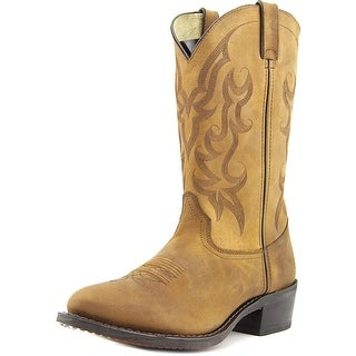 Durango Western Men  Round Toe Leather Brown Western Boot
