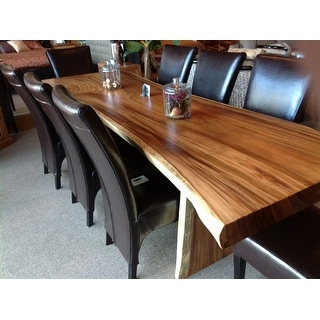"Link to Chic Teak Suar Live Edge Unique Slab Dining Table - 118"" Long Similar Items in Dining Room & Bar Furniture"