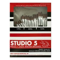 Studio 5 Artist and Sign Writer Paint Brush Set 72-Piece