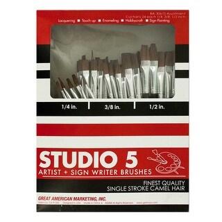 Studio 5 Artist and Sign Writer Paint Brush Set 72-Piece