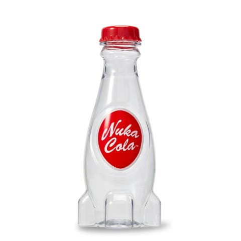 Fallout Molded Nuka Cola 22oz Plastic Water Bottle - Red