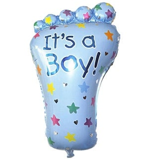 Party Decor Foil Footprint Shape Inflation Helium Balloon Light Blue 11.8 Inch