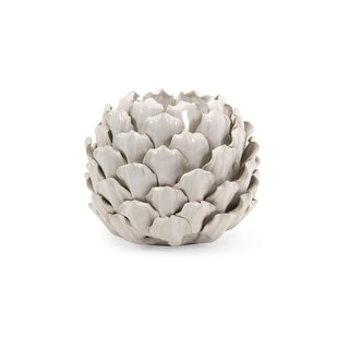 6 inch x 6 inch x 3 inch blooming artichoke ceramic for Artichoke decoration