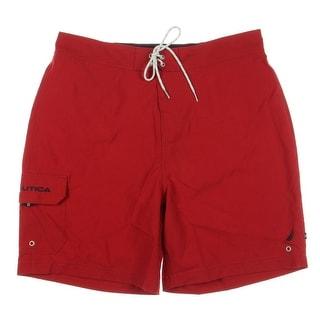 Nautica Mens Anchor Signature Quick Dry Swim Trunks - XL