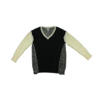 Design History Womens Pullover Sweater Wool Blend Cable Knit