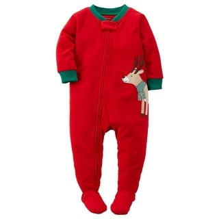 Carter's Baby Boys' Holiday Microfleece One Piece Footed Pajamas