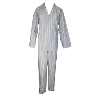 Geoffrey Beene Men's Tall Broadcloth Long Sleeve Long Leg Pajama Set