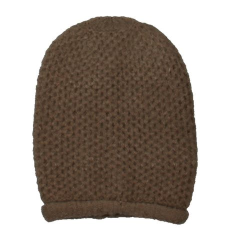 Free People Womens Beanie Hat Knit Winter - Taupe - O/S