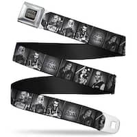 Suicide Squad Logo Full Color Black Gray Suicide Squad 7 Character Pose Seatbelt Belt