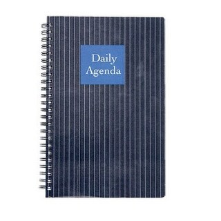 """Mead 599-12099 Undated Daily Planner, 5.75"""" x 8.5"""", Black"""