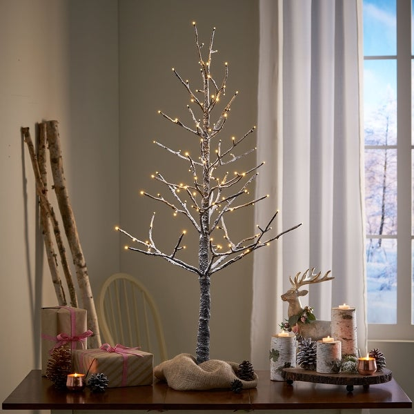 Yadira 4-foot Pre-Lit 114 Warm White LED Artificial Christmas Twig Tree by Christopher Knight Home. Opens flyout.