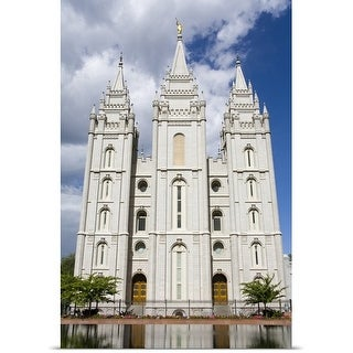 Poster Print entitled Mormon Temple on Temple Square, Salt Lake City, Utah