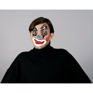 Circus Clown Faces Costume Mask Male Blue Nose