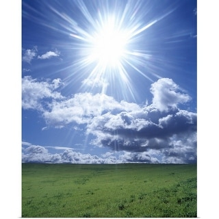 """Sun shining over a field"" Poster Print"
