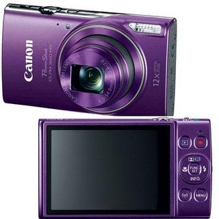 Canon Powershot Elph 360 Hs With 12X Optical Zoom And Built-In Wi-Fi(Purple)