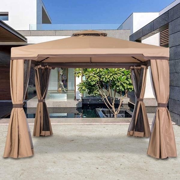 Suncrown Outdoor 10-foot Iron Patio Garden Gazebo. Opens flyout.