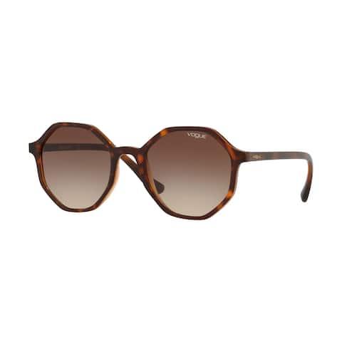Vogue VO5222S 238613 52 Dark Havana/light Brown Transp Woman Irregular Sunglasses - Tortoise