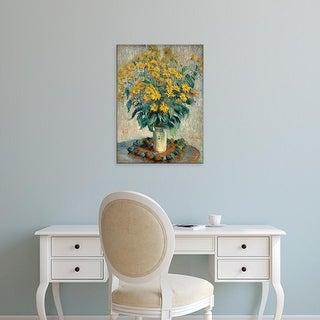 Easy Art Prints 's 'Artichoke Flowers' Premium Canvas Art