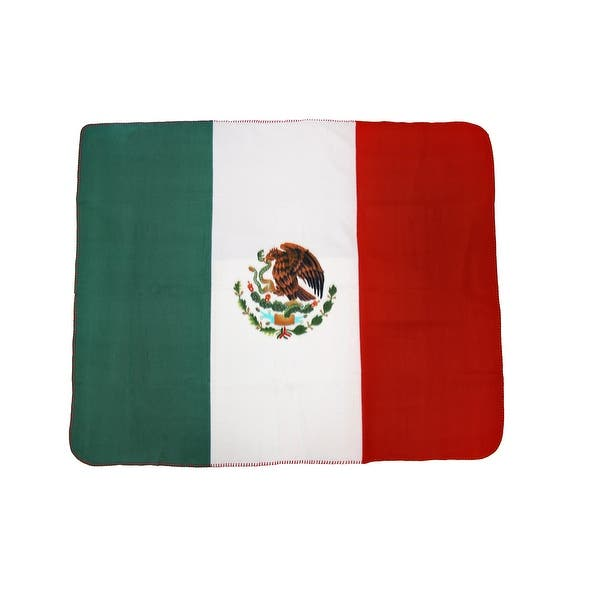 Mexican Flag Fleece Throw Blanket Mexico 60 Inches X 50 Inches Multicolored Overstock 20625430