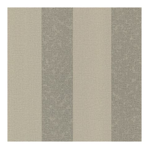 Dash Taupe Linen Stripe Wallpaper - 20.5 x 396 x 0.025